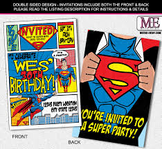 superheroes party invites superhero birthday party invites custom invitation template