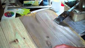 Paint Wash On Wood How To Make New Wood Look Old Paint Wash Method 1 Youtube