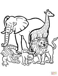 outstanding zoo animals coloring page free printable