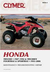 honda atv manuals diy repair manuals clymer honda trx250x 1987 1992 trx300ex fourtrax sportrax 1993 2006