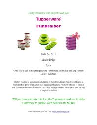 Fundraiser Wording For Flyer Tupperware Fundraising Flyer Ohye Mcpgroup Co