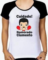 Camiseta Raglan Baby Look, Cuidado, Namorado Ciumento no Elo7
