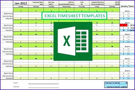 Excel Template Weekly Monthly Timesheet Simple Biweekly