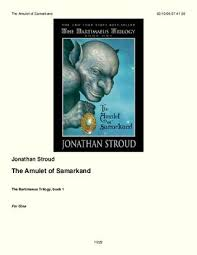 page 1 the amulet of samarkand