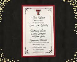 commencement invitations college graduation invitation texas tech college graduation announcement graduation invitations layered announcements qty 25