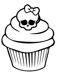 Small Picture Printable Skull Coloring Pages Monster High Skullette Cupcake