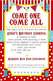 printable carnival party invitation template dolanpedia printable carnival party invitation template