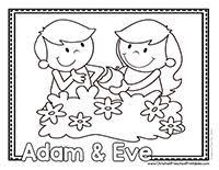 Small Picture Adam Eve Preschool Printables