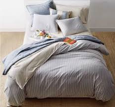 ralph lauren graydon cotton bold stripe king duvet cover 420 dune chambray