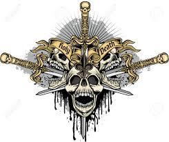 Gothic Skull Design Gothic Coat Of Arms With Skull Grunge Vintage Design For T Shirt