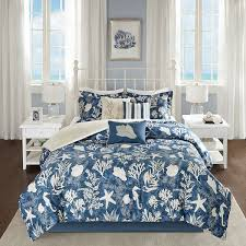 beddingnmore com starfish seahorse seashell 7 pc comforter set