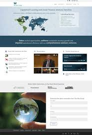 Design Thought Leaders New Website Design For Equipment Leasing Finance Industry