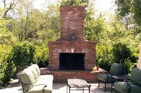 backyard brick fireplace wood outdoor fireplace outdoor fireplace grace design associates santa barbara ca
