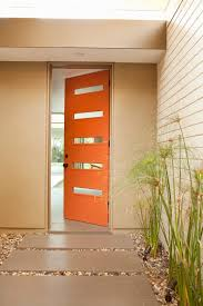 mid century modern front doorsModern home doors entry midcentury with orange front door orange