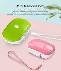 Ultra Light Pills Mini Medicine Box Food Grade Pp Portable 7 Days Compartments Sealing Waterproof Tablet Pill Organizer Customization