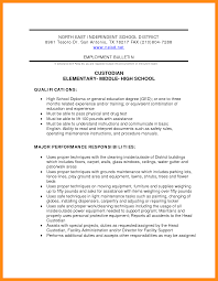 12 Sample Custodian Resume Dtn Info