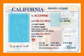 Image result for ca drivers license template
