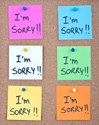 on saying i m sorry