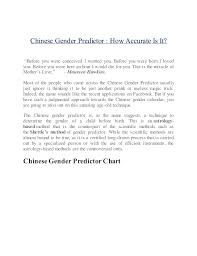 Was The Chinese Gender Chart Accurate For You Chinese Gender Predictor How Accurate Is It