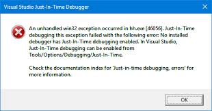 Just-in-time debugging disabled and options missing - Developer ...