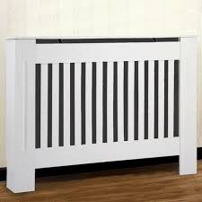 Radiator Covers UK Traditional Radiator Cover <b>White</b> Painted <b>MDF</b> ...