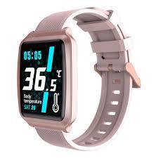 <b>LEEHUR</b> Smartwatch Body Temperature Heart Rate Monitor Sport ...