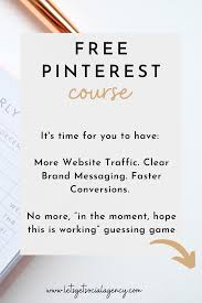 Best Free Pinterest Course In 2020 Pinterest Course Free Pinterest Course Blog Traffic