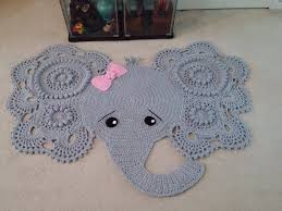 Elephant Rug Crochet Pattern Adorable Elephant Rug Crochet Elephant Crochet Elephant Rug Nursery Etsy