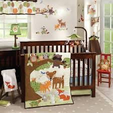 forest friends baby bedding woodland tales 5 piece baby crib bedding set with per by lambs