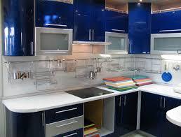 Blue Kitchen Cabinets Blue Kitchen Cabinets For A Simple Kitchen Island Kitchen Idea