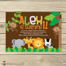 Jungle Theme Birthday Invitations Safari Birthday Printable Jungle Animals Invitation Party