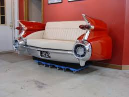 Cool Couches With Retro Classic Car Furniture Of 1959 Cadilac Car