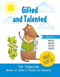 gifted and talented test preparation workbook for children in pre and kindergarten test prep practice test