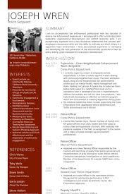 Sergeant Resume Samples Visualcv Resume Samples Database