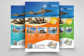 Free Travel Flyer Templates Free Psd Travel Brochure Flyers