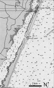Tide Chart Assateague Island Md A 1925 Nos Nautical Chart Showing The Active Sinepuxent