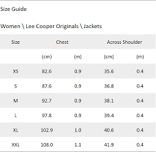 Lee Cooper Size Chart Jackets Buy Bomber Jacket Online In India Le044to46yqninfur