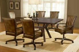 dining room sets with rolling chairs casters for dining room chairs dining table and 4 chairs