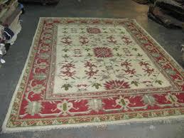 vintage antique turkish anatolian ushak oushak rug 7 2 x 10 2 hand knotted