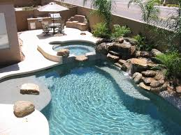 Backyard Pool Landscaping Dont Like The Stone But The Layout Works Pretty Backyard Pool