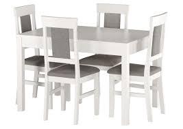 Details Zu Gepolsterter Massivholz Stuhl Küchenstuhl Esszimmerstuhl Weiß Grau V 9071 25w