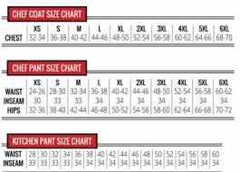 Chef Jacket Size Chart Un0413 Classic Chef Coat