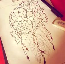 Dream Catcher Outline Dream Catcher Tattoo Sketch Photos Pictures and Sketches 70