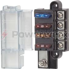 fuses circuit protection powerwerx picture of blue sea 5045 4 circuit st blade compact fuse block cover 4