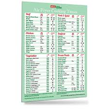 Fathers Day Gift Must Have Air Fryer Cookbook Accessories Green Cooking Times Magnet 76 Food Types Big Text Easy To Read Cheat Sheet Kitchen Cooking