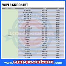 Wiper Blade Fit Chart Piaa Radix Soft Silicone Wiper Blade