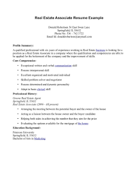 Real Estate Agent Resume Examples Sample Foro Experience Yun56co