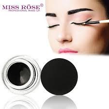 eyeliner gel cream black eye liner with brush makeup long lasting natural cosmetics for flower waterproof eyeliner make up brushes white eyeliner from