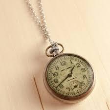 vintage watch pendant necklace