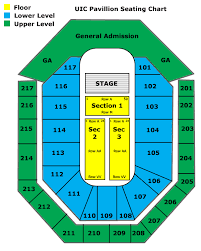 Toyota Amphitheater Detailed Seating Chart Venue Seating Charts She 100 3 Wshe Chicago